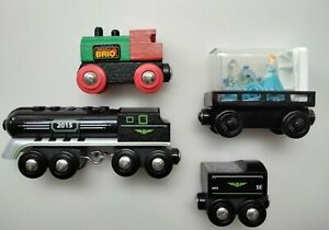 Wooden Train Lot x4  works w/ Thomas Friends BRIO