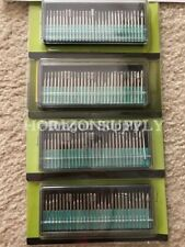 New 120pc Diamond Burr Bits For Dremel Tools Grit 80,120,240,600 Set