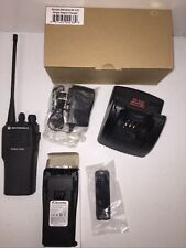 Motorola Cp150 Uhf 4 Channel Radio With New Battery And Charger