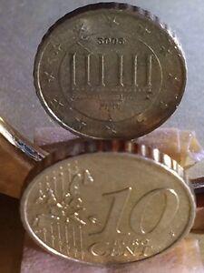 Frappe Monnaie 10 Cent 2002 F Allemagne,Fauté Exemplaires Connu :10 Rare Crenelé