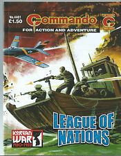 LEAGUE OF NATIONS,COMMANDO FOR ACTION AND ADVENTURE,NO.4401,WAR COMIC,2011