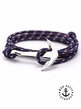 Bracelet Ancre Marine Argent Bleu mixte homme femme 2017 Marque encre cordon