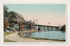Hutchinson River Viaduct NEW YORK WESTCHESTER & BOSTON RR RAILROAD NYW&BRR PC