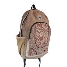 HempStyle Wild Flower Hemp Backpack - Himalayan Hemp Backpack Laptop Bag