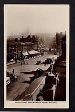 Walsall - Park Street from Seymour House - real photographic postcard