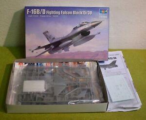 MODEL KIT 1/144 SCALE TRUMPETER F-16B/D FIGHTING FALCON BLOCK15/30 03920