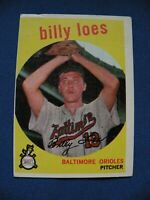 1959 Topps Billy Loes Orioles card #336 gray back baseball MLB $1 S&H