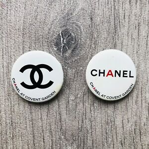 Chanel Monogram Badge Pins Brooch Covent Garden Round CC Pins approx 3.5cm