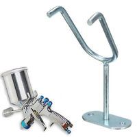 Gravity Feed Paint Spray Gun Holder Stand HVLP Wall Bench Mount Hook Booth Cup s