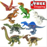 NEW 8 X Jurassic World Dinosaurs Mini Figure Building Toy Fit Lego ☀️FAST SHIP☀️