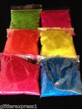 Glitterexpress Neon Glitter Pack 100g each x 040 hex 6 colours Super Bright Matt