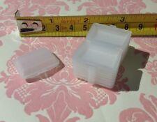 "Dollhouse Miniature Restaurant White Plastic 1"" To-go Box Closeable 10pcs 1:12"