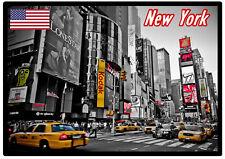 New York, USA - Souvenir Nouveauté Aimant de réfrigérateur, sites /DRAPEAUX/
