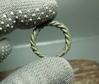 Rare Ancient Artifact Antique Silver jewelry Snake Ring Viking Age 9-12c.AD#2984