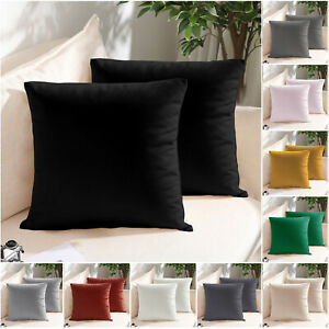 Crushed Velvet Cushion Covers OR Filled Cushion 18 x 18 in Sofa Throw Pillows