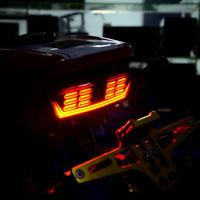 LED Motorrad Rücklicht Blinker Bremslicht Heckleuchte Nummernschild Lampe Smoke