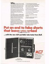 1970 B&K 607 Portable Tube Tester TV Repair Service Equipment Vtg Print Ad