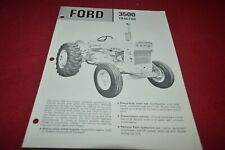 Ford Tractor 3500 Tractor Dealer's Brochure AMIL15