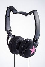 mix-style nekomimi headphones Star Cosplay Costume Cat Ear Black Pink F/S