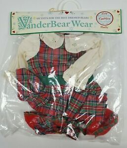 VanderBear Wear New England Country Christmas FLUFFY Best Dressed Bears 1995