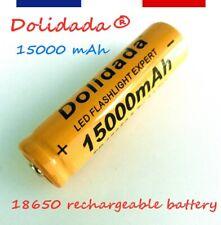 18650 - PILE BATTERIE RECHARGEABLE 15000 mAh LI-ION 3,7 V POUR LAMPE TORCHE...