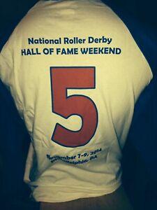 GREAT GIFT!!  Roller Derby T-BIRDS ALL-STARS Souvenir Shirt - LARGE + XL + 2XL!