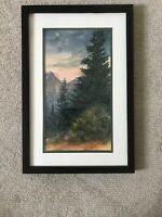 Gail Overpeck Mountain Firs Watercolor, Framed