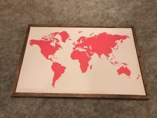 [Framed] Retro World Map Large Canvas Art Prints Picture Wall Home Decor