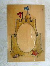 Embossing Arts Co Rubber Stamp 1998 Sand Castle Frame 927Jj summer beach photos