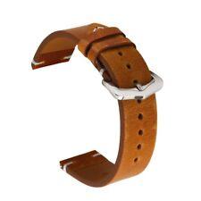 Véritable Cuir Femmes Hommes Bracelet de Montre Rétro Boucle 18 19 20 21 22 24mm