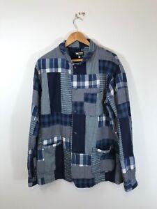 Rough & Tumble New York Patchwork Bro Chore Jacket Coat Large Needles Garment