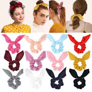 Large Thick Strong Silk Hair Scrunchies Ponytail Holder  Hair bobble Bands UK