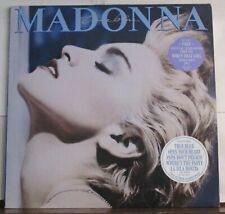 "Madonna ""True Blue"" U.K. Sire Wx 54 clear vinyl 12"" Lp w/ giant poster"