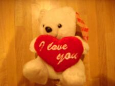 stuffed bear with i love you heart nwt