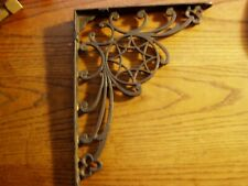 "Ornate Antique Charming Victorian Cast Iron Shelf Bracket 8 "" x 10 "" Real"