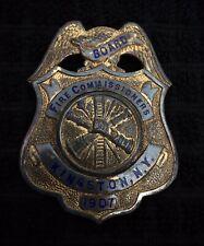 New listing Kingston New York Ny Fireman Hose Fire BadgeBraxmar Cairns Helmet Reese Wilson