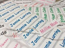 Sew in /Iron On Waterproof Uniform Clothing Personalised Identity Name Labels