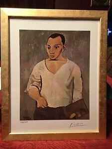Pablo Picasso 1964 Original Print Hand Signed with COA, New Frame