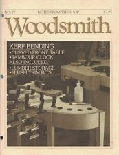 Woodsmith 1991 No 77 Kerf Binding Curved Front Table Tambour Clock & More