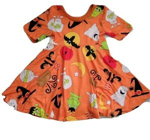 Girls Halloween Twirly Dress Fast Shipping