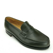 New J.M. Weston 180 Green Calfskin Loafers 5.5 UK / 6.5 D US