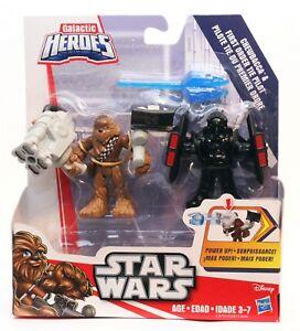 Star Wars Galactic Heroes Chewbacca & First Order Tie Pilot - New Disney Hasbro