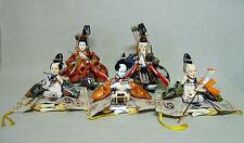 #27 Set of 5 Japanese HINA Doll / ZUISHIIN & SANNIN-SHICHO w/ Tools