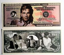 RARE Patrick Swayze 000 000 Novelty Note Movies Buy 5 Get One