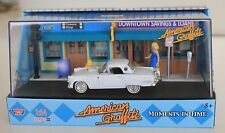 MotorMax American Graffiti, 56 Ford Thunderbird diorama with figure 1:64 scale