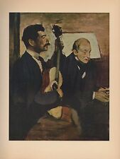 "1951 Vintage DEGAS ""DEGAS' FATHER LISTENING TO PAGANS COLOR Art Print Lithograph"