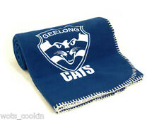 AFL Geelong Cats Polar Fleece Throw w/ Embroidered Logo Official AFL Product