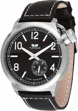 Vestal Canteen Leather // 3-Hand Premium Analog Watch with Sub-Second
