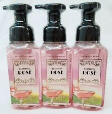 3 Bath & Body Works Raspberry Rose Gentle Foaming Hand Soap Paris Coll.