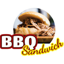 Bbq Sandwich Concession Decal Sign Cart Trailer Stand Sticker Equipment